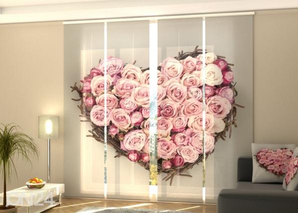 Pimentävä paneeliverho Heart of Love 240x240 cm ED-218120