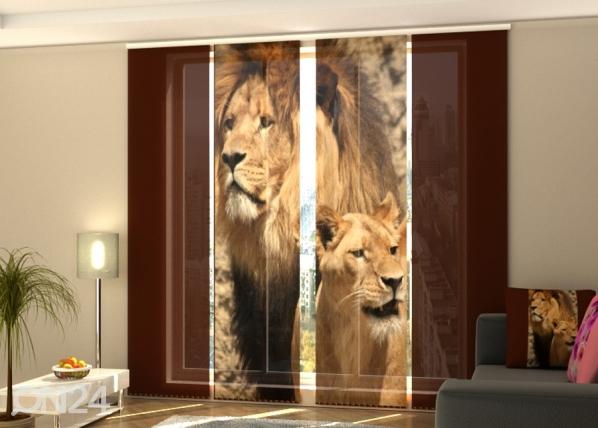 Pimentävä paneeliverho Lions 240x240 cm ED-218135