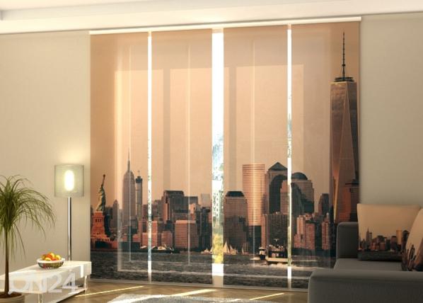 Puolipimentävä paneeliverho Manhattan skyline 240x240 cm ED-218141