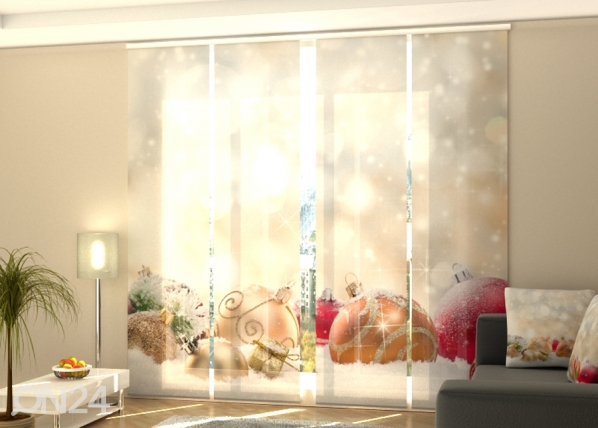 Pimentävä paneeliverho Christmas Lights and Snow 240x240 cm ED-218380
