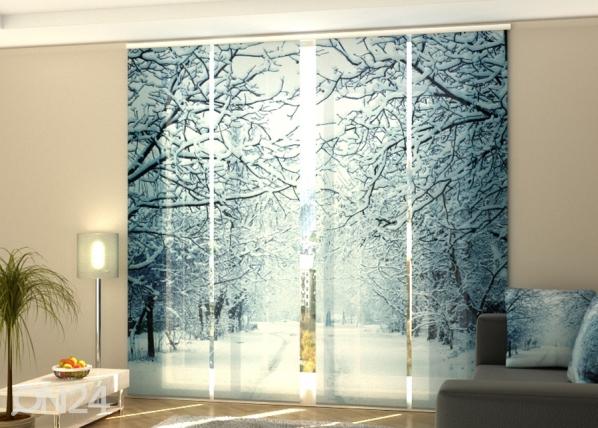 Pimentävä paneeliverho Snowy Evening 240x240 cmm ED-218402