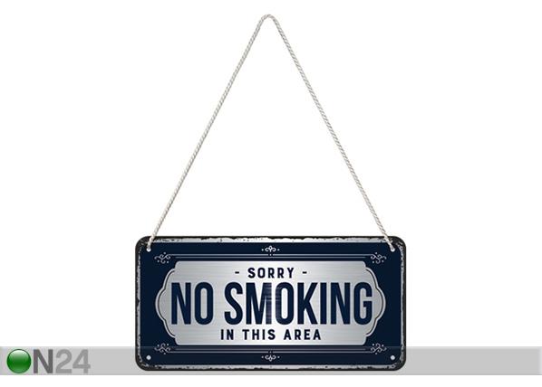 Retro metallijuliste Sorry, No Smoking! 10x20 cm SG-220225