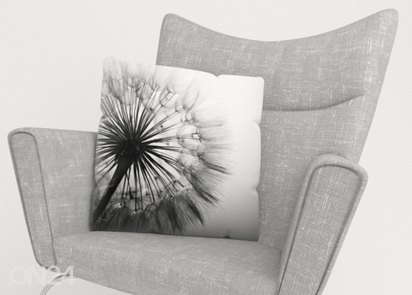 Koristetyynyliina Amazing Dandelion Black and White ED-221277