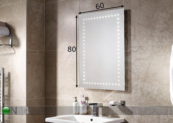 Peili LED-valaistuksella Bronte 80x60 cm LY-221328