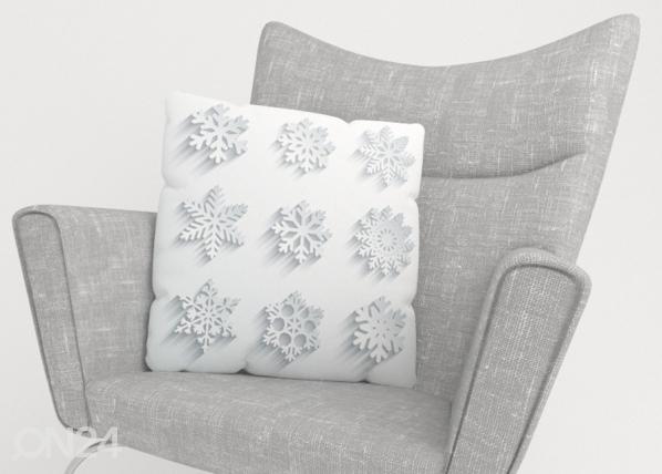 Koristetyynyliina Snowflakes ED-222848