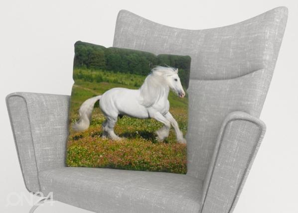 Koristetyynyliina White Horse ED-222931