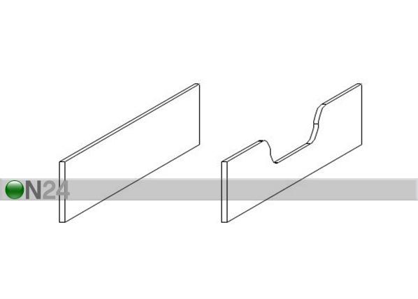 Sängynlaidat pinnasänkyyn Luca CD-223010