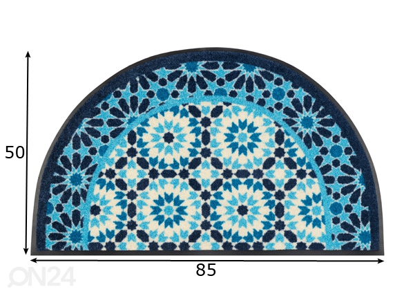 Ovimatto Round Oriental 50x85 cm A5-230886