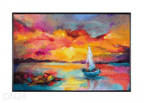 Matto Sunset Boat 50x75 cm A5-230888