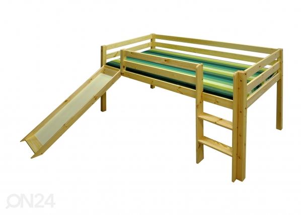 Puolikorkea parvisänky, mänty 90x200 cm TW-26930