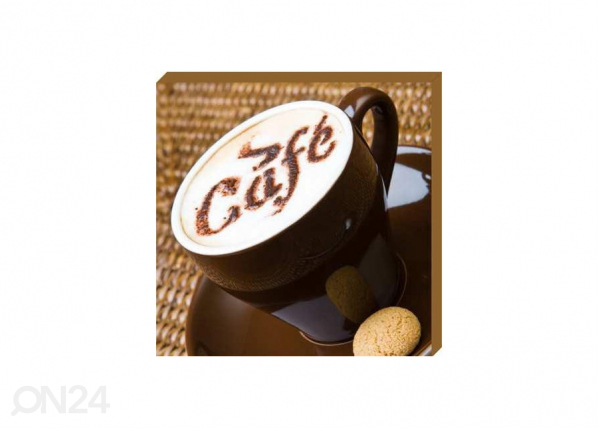 Taulu CANVAS - A CUP OF COFFEE WITH LADYFINGERS2 50x50 cm OG-37747