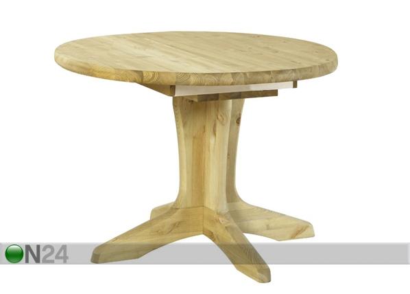 Jatkettava ruokapöytä STELLA, mänty 105x105-148 cm PI-50449