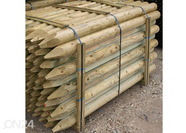 Kyllästetty puutolppa, 4 kpl 8x250 cm PO-54871