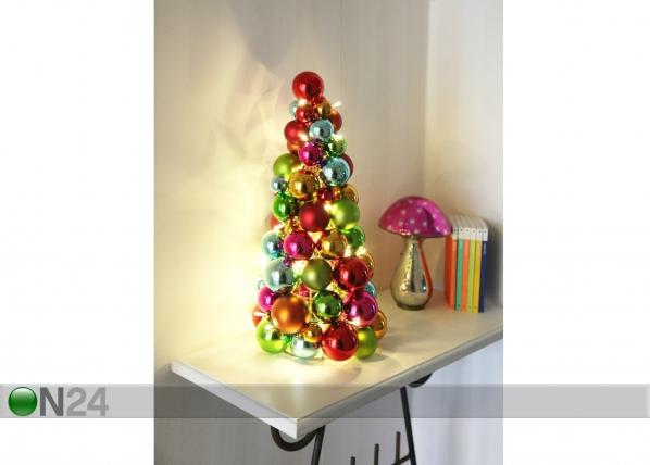 Joulukoriste LED BALL CONE AA-56594