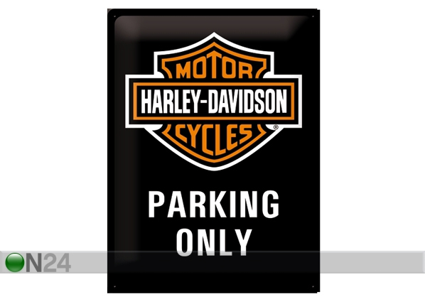 Retro metallijuliste Harley-Davidson Parking Only 30x40 cm SG-61609