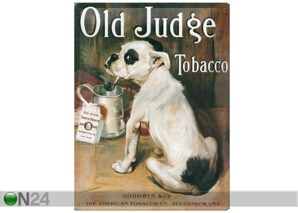 Retro metallposter Old Judge Tobacco 30x40cm SG-61690