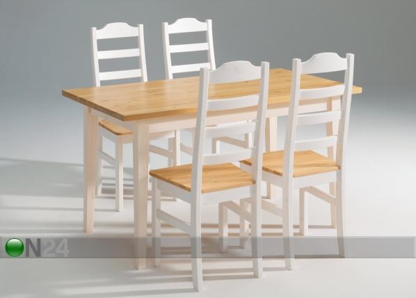 Ruokapöytä SCALA, mänty 90x140 cm AK-64061