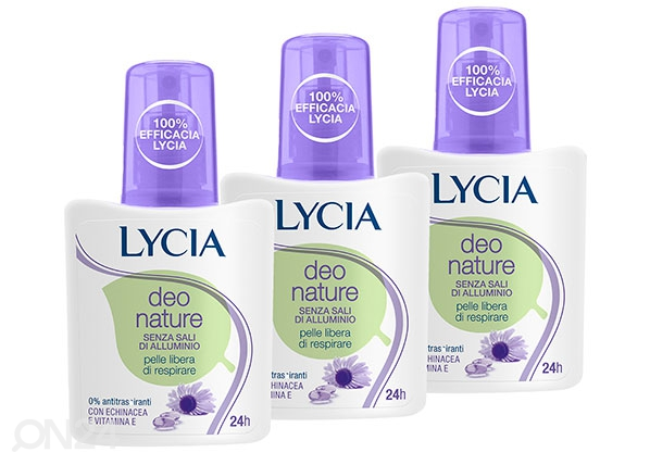 Pihustiga deodorant Lycia Deo Nature 3x75ml TZ-65647