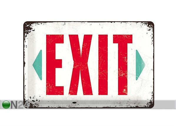Retro metallijuliste Exit 20x30cm SG-68153