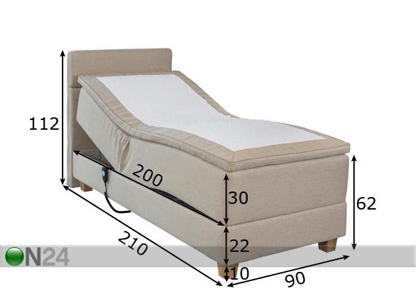 Moottoroitu sänky kaksinkertaisella jousituksella HYPNOS HERMES FR-69354 - ON24 Sisustustavaratalo