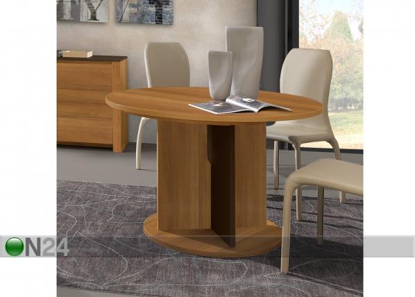 Jatkettava ruokapöytä SHA 113x113-153 cm MA-70290