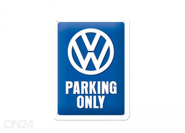 Retro metallijuliste Parking Only 15x20 cm SG-70333