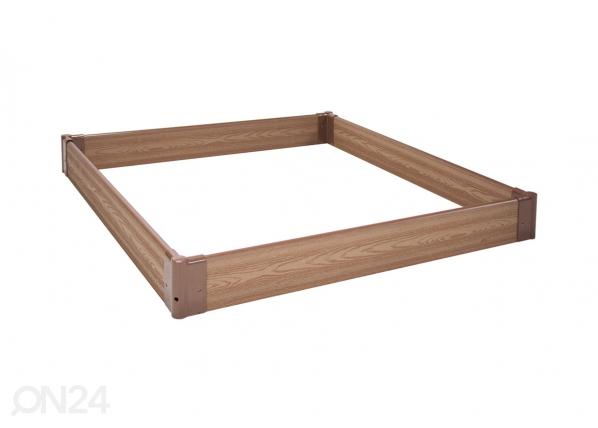 Piennarlaatikko/hiekkalaatikko 120x120 cm EV-72754