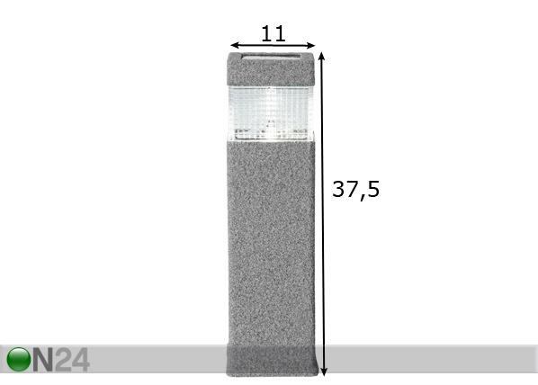 Aurinkoenergia puutarhavalopylväs AA-72816