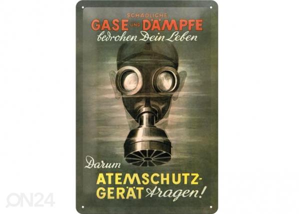 Металлический постер в ретро-стиле Gase und Dämpfe 20x30cm SG-73489