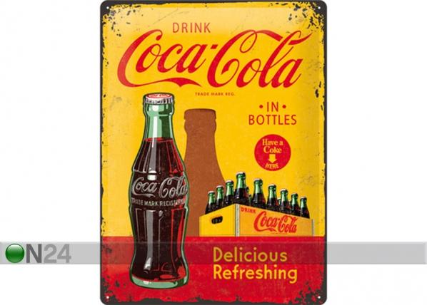 Retro metallijuliste Coca-Cola in bottles 30x40cm SG-73499