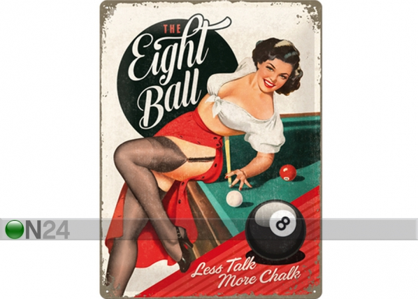 Retrotyylinen metallijuliste THE EIGHT BALL 30x40 cm SG-73500