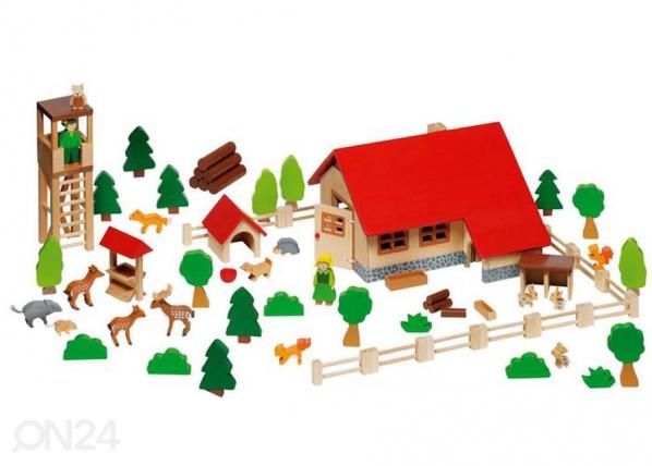 Puinen metsävahdin talo SG-73653