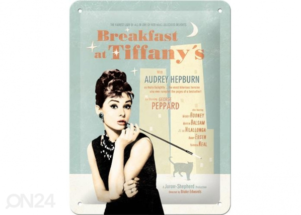 Retrotyylinen metallijuliste BREAKFAST AT TIFFANY´S SG-73765