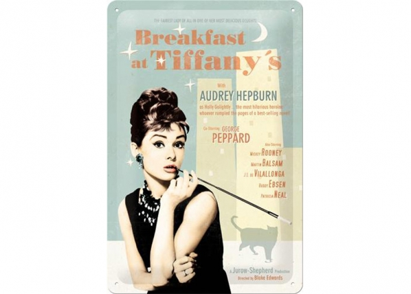 Retro metallijuliste Breakfast at Tiffany´s SG-73766