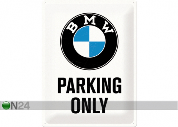Retro metallposter BMW Parking only 30x40cm SG-74245