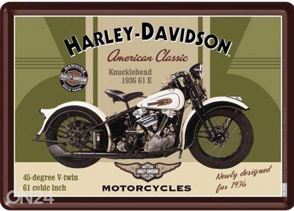 Retro metallposter Harley-Davidson Knucklehead 15x20cm SG-74261