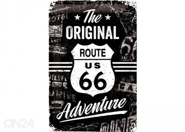 Retro metallijuliste Route 66 The Original Adventure 20x30 cm SG-74267