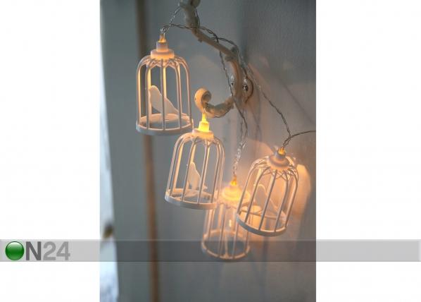 Valguskett Linnupuur 6 LED AA-74536