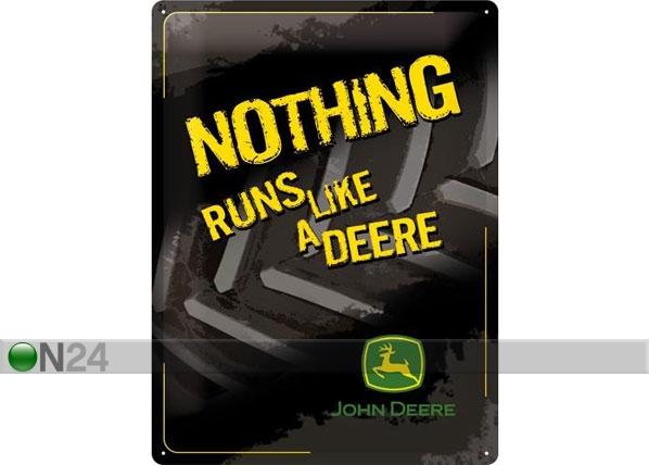Металлический постер в ретро-стиле John Deere Nothing runs like a deere 30x40cm SG-78376