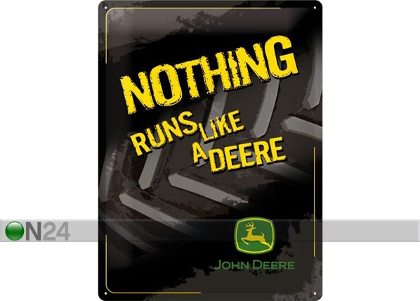 Retro metallposter John Deere Nothing runs like a deere 30x40cm SG-78376