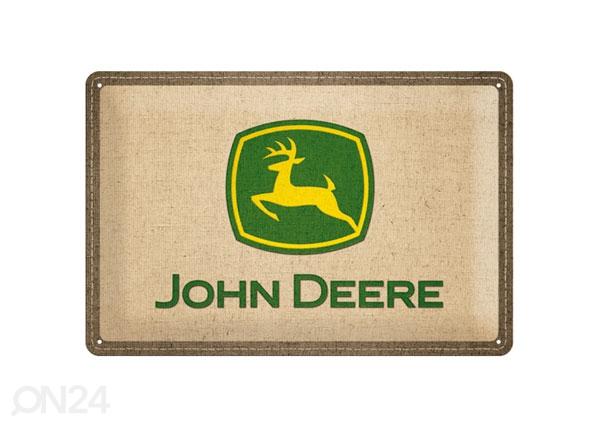 Retro metallposter John Deere logo 20x30cm SG-78389