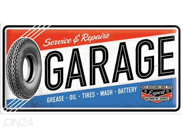 Retro metallposter Service & Repair Garage 25x50cm SG-78404