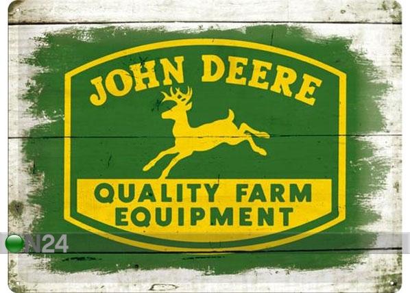 Retro metallposter John Deere Quality Farm Equipment logo 30x40cm SG-78435