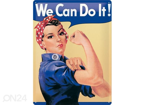 Retro metallposter We can do it! SG-78918
