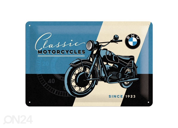 Retrotyylinen metallijuliste BMW CLASSIC MOTORCYCLES 20x30 cm SG-80063