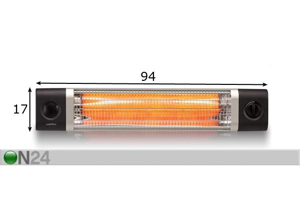 Lämpölamppu VEITO CH2500TW AX-80397