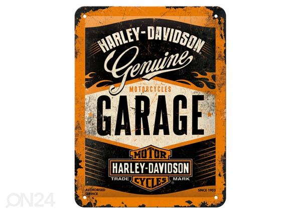 Retro metallijuliste Harley-Davidson Garage15x20 cm SG-80663