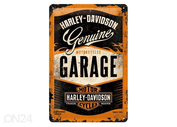 Retro metallposter Harley-Davidson Garage 20x30 cm SG-84337