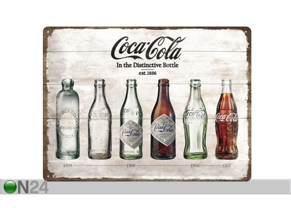 Retro metallposter Coca-Cola pudelid ajalugu 30x40 cm SG-84344