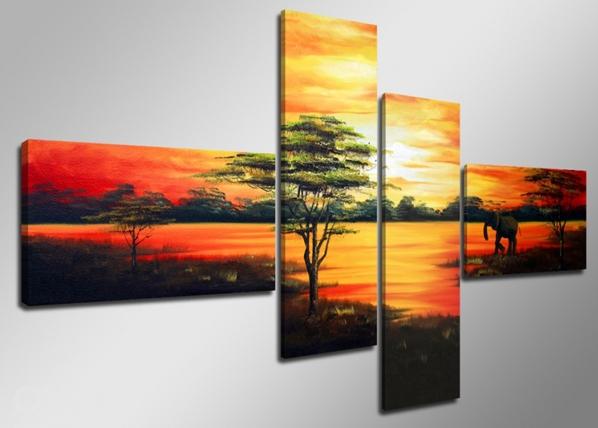 Neljaosaline seinapilt Aafrika 160x70 cm ED-86575
